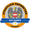 Logo certified skiing instructor, skiguide